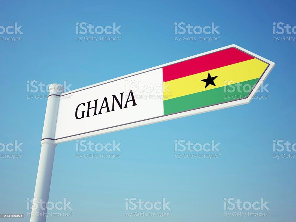 Ghana Flag Sign stock photo