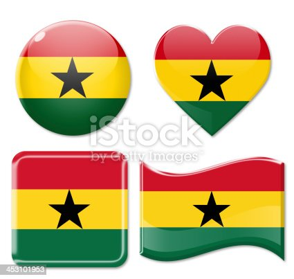 istock Ghana Flags & Icon Set 453101953