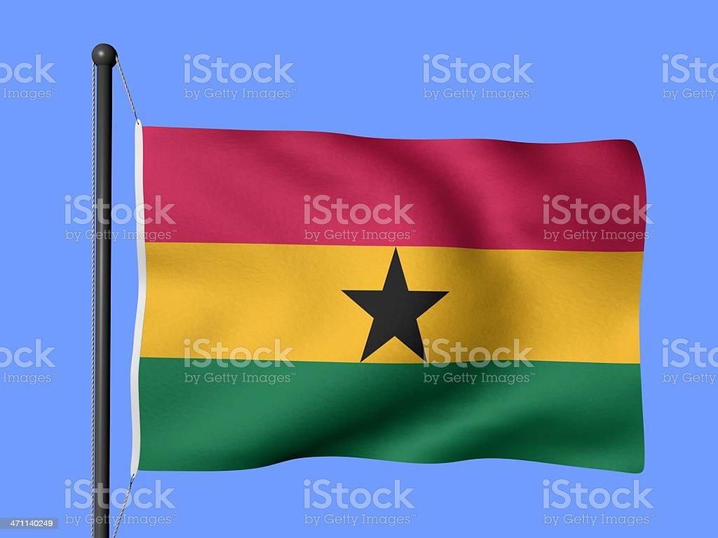 Ghana - flags of the world stock photo