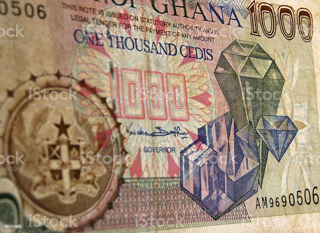 Ghana gemstones banknote royalty-free stock photo