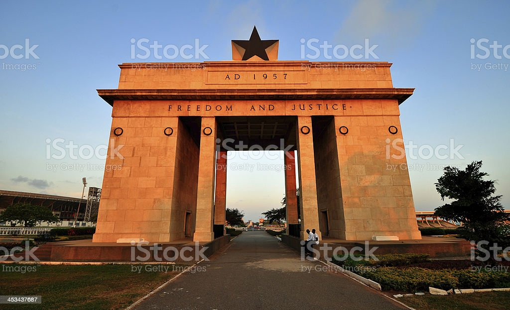 Ghana Independence Arch with a black star on top stock photo