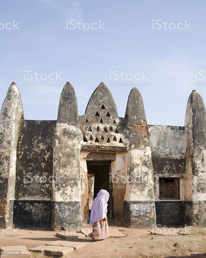 Ghana: Old Mosque at Wah royalty-free stock photo
