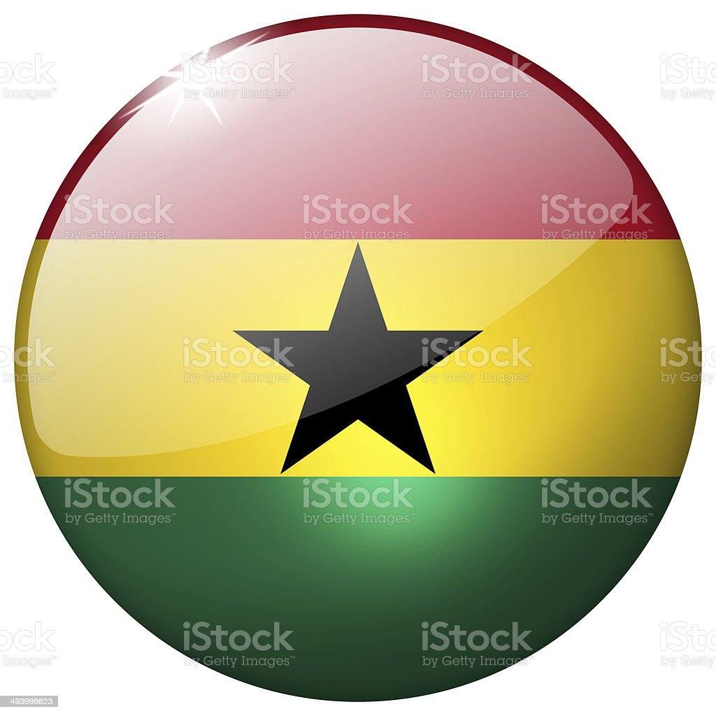 Ghana Round Glass Button stock photo