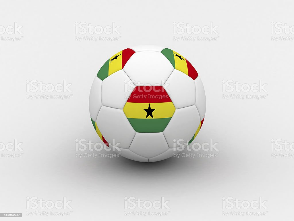 Ghana soccer ball royalty-free stock photo