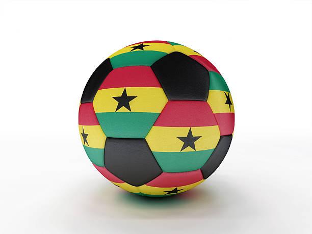 Ghana soccer football ball stock photo