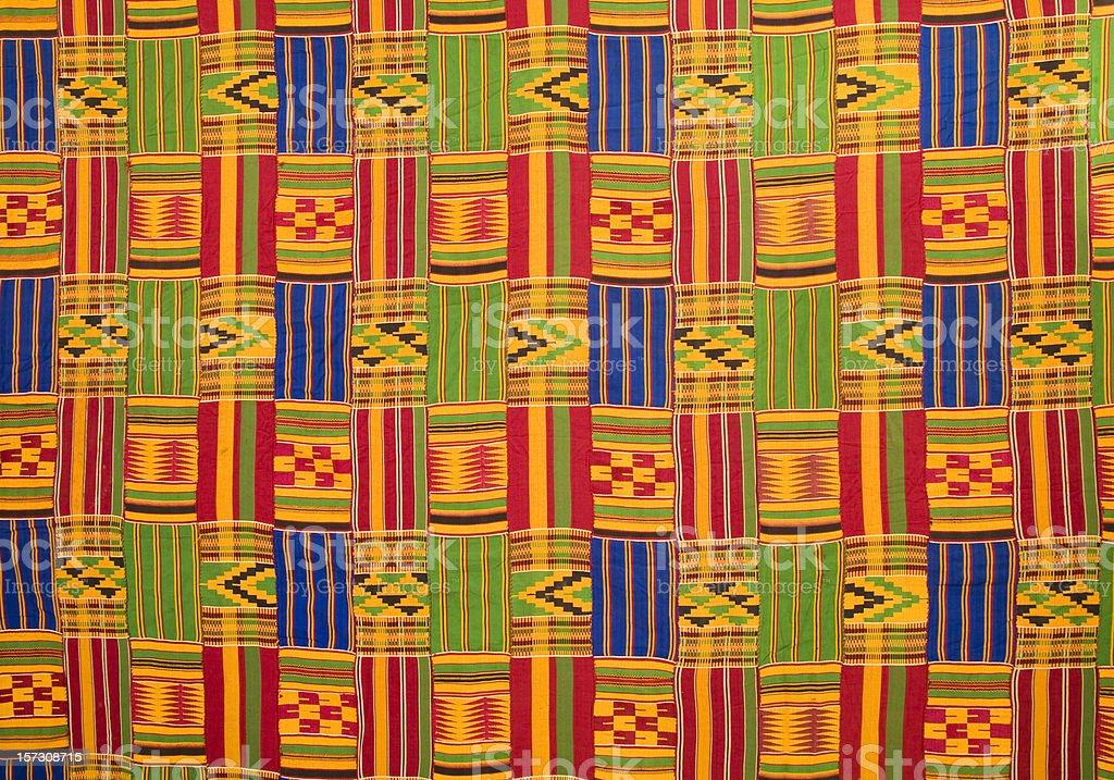 Ghana: Traditional Kente Cloth (large panel) stock photo