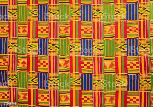 Ghana: Traditional Kente Cloth (large panel)