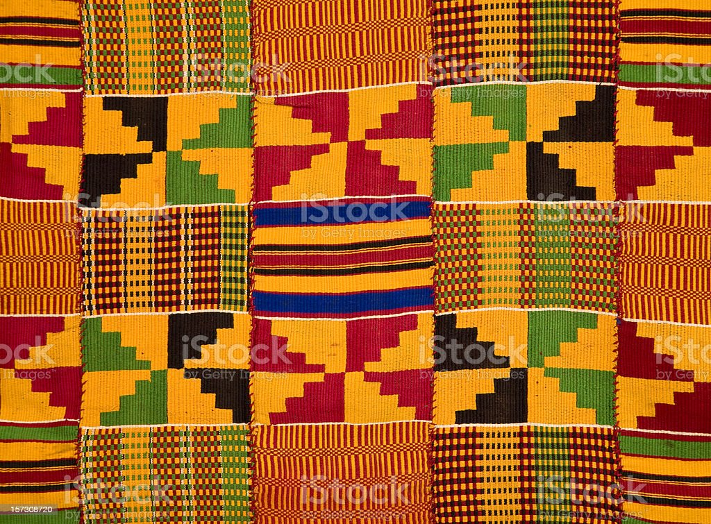 Ghana: Traditional Kente Cloth (border detail) stock photo