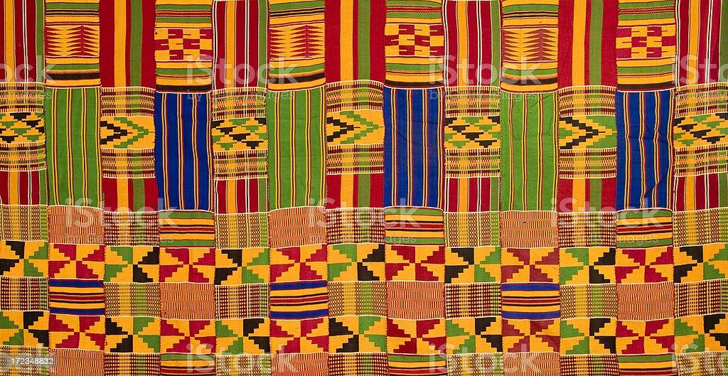 Ghana: Traditional Kente Cloth (detail of large-panel border) stock photo