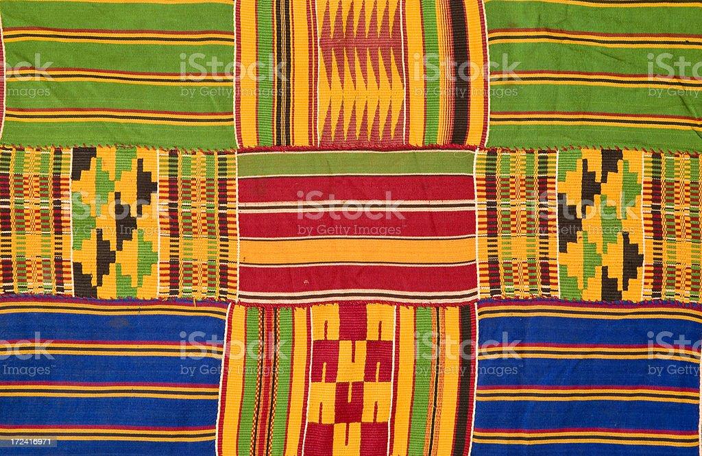 Ghana: Traditional Kente Cloth (detail) stock photo