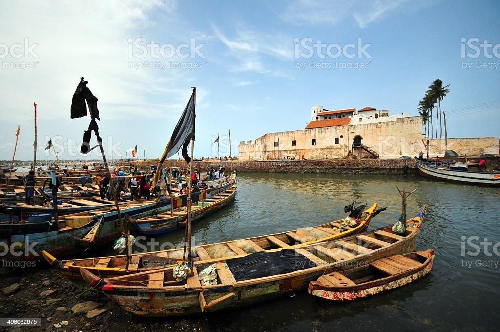 Ghana, West Africa: Elmina castle stock photo