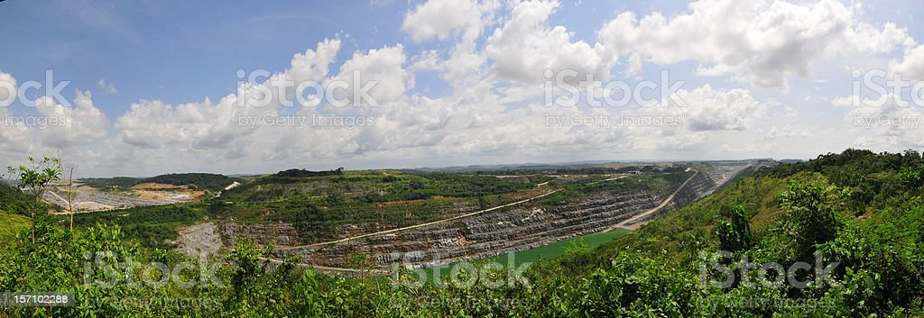 Ghanaian Open Pit Gold Mine stock photo