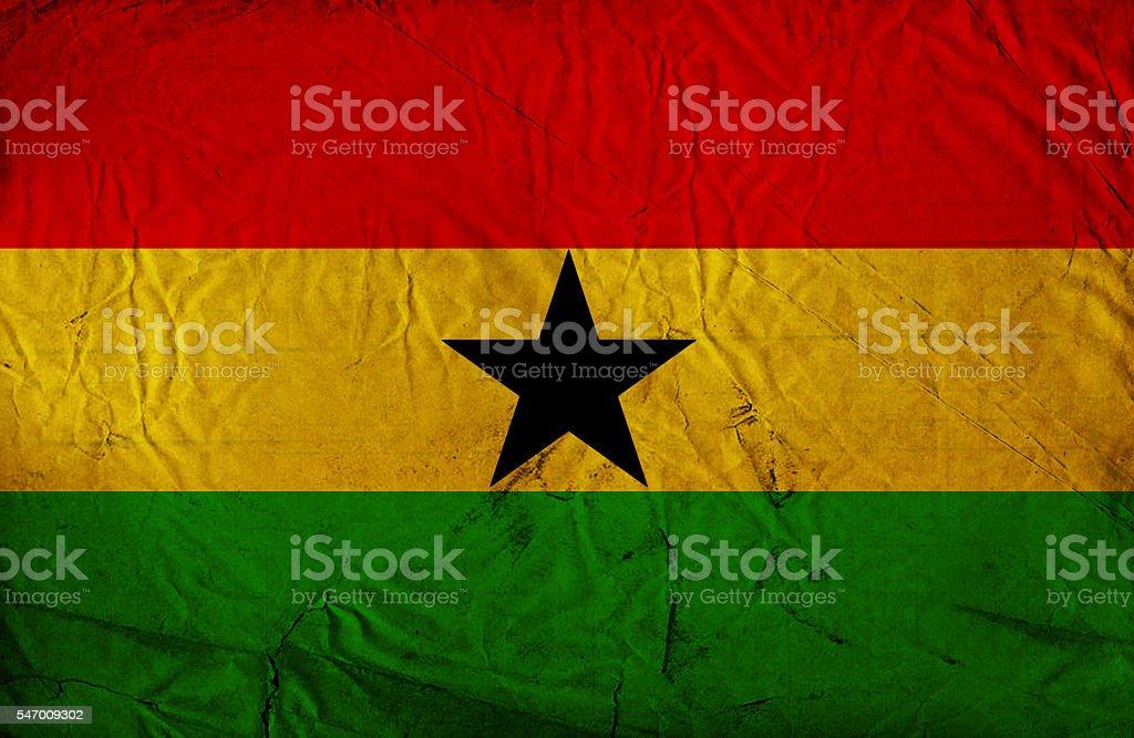 Ghanaian vintage Flag stock photo