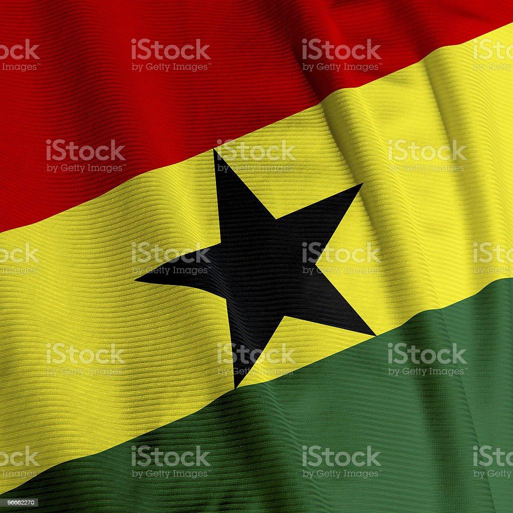 Ghanian Flag Closeup stock photo