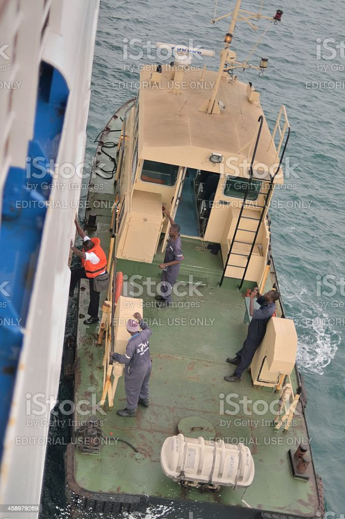 Ghanian Harbor Pilot stock photo