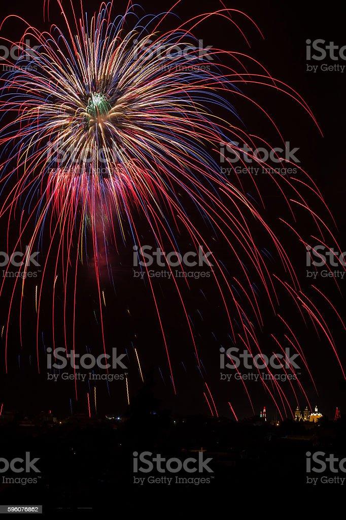 Gharghur fireworks, Malta royalty-free stock photo
