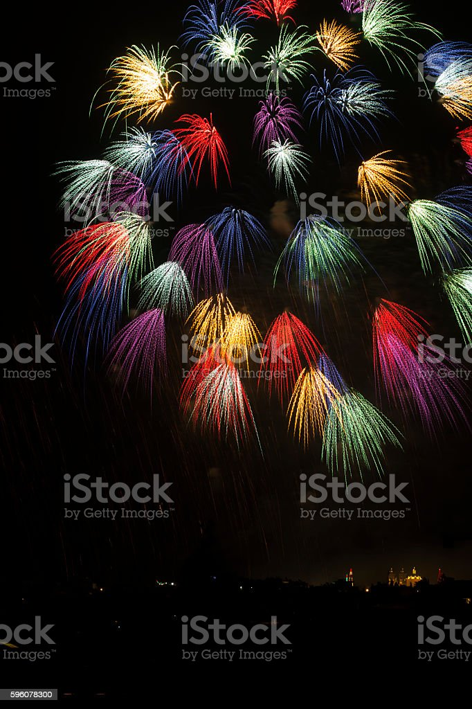 Gharghur fireworks, Malta royalty-free stock photo