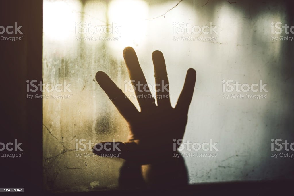 A ghastly sign for help royalty-free stock photo