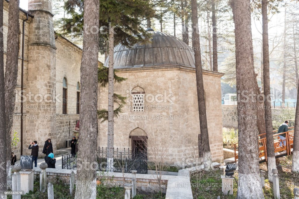 Ghazi Suleiman Pasha Mosque and Akshamsaddin tomb'n royalty-free stock photo