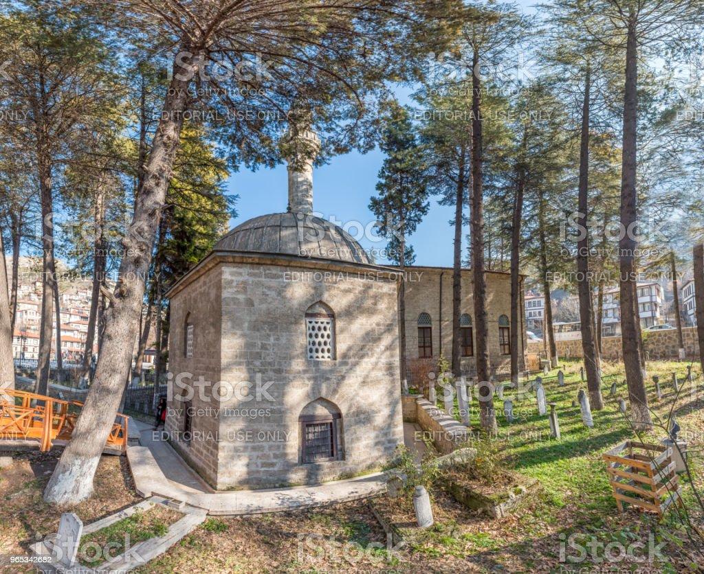 Ghazi Suleiman Pasha Mosque and Akshamsaddin tomb'n royalty-free stock photo
