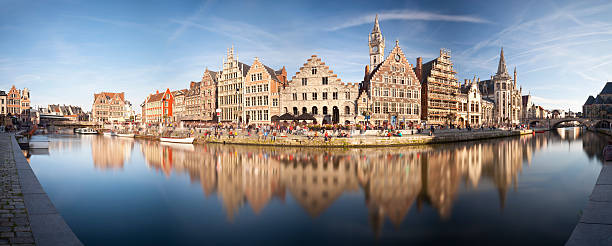 Ghent Panorama stock photo