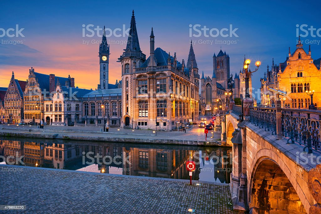 Ghent. stock photo