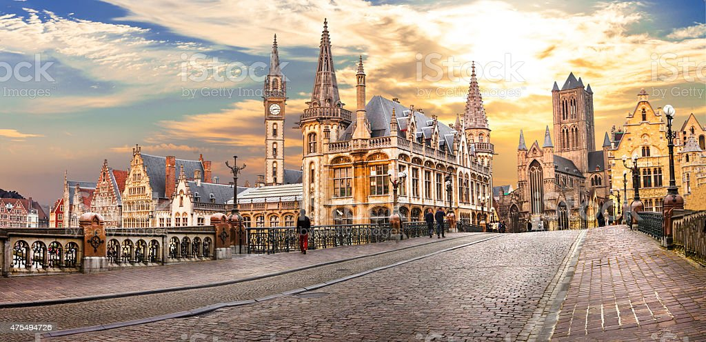 Ghent,Belgium. stock photo