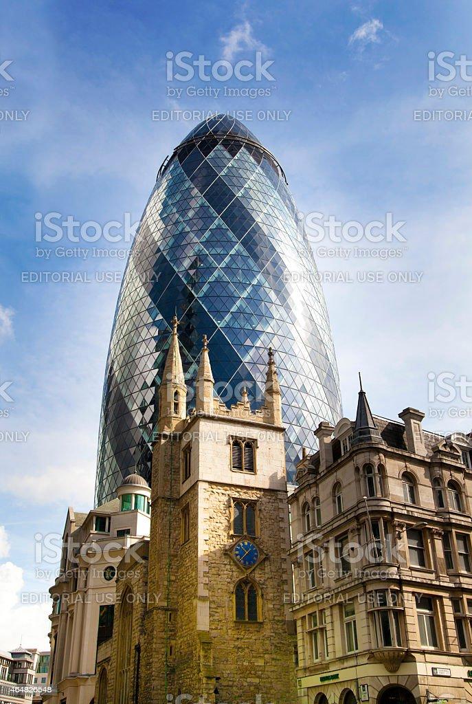 Gherkin building, london stock photo