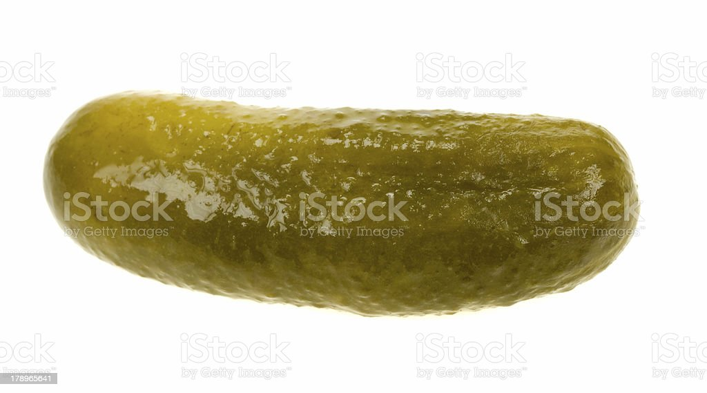 gherkin isolated stock photo