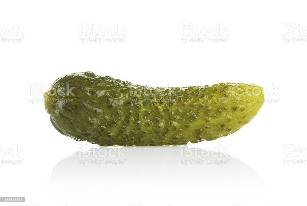 Gherkin (Clipping Path) royalty-free stock photo