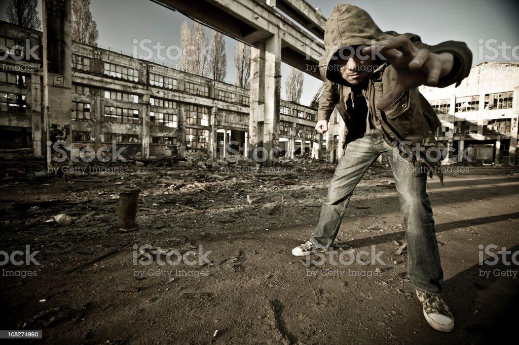 Ghetto boy royalty-free stock photo