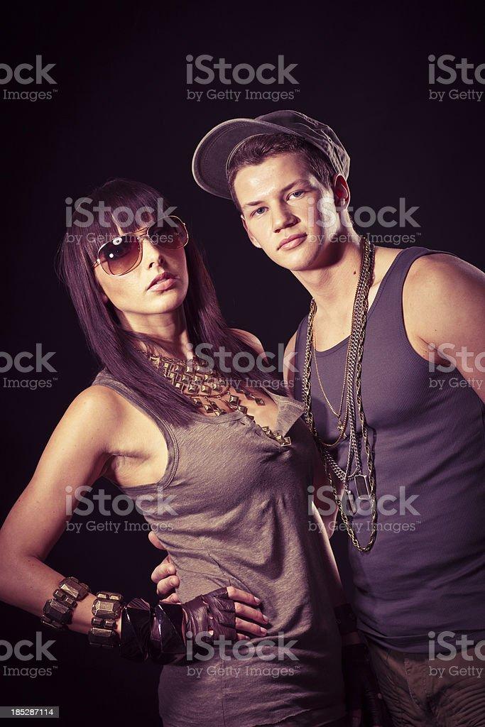 Ghetto couple royalty-free stock photo