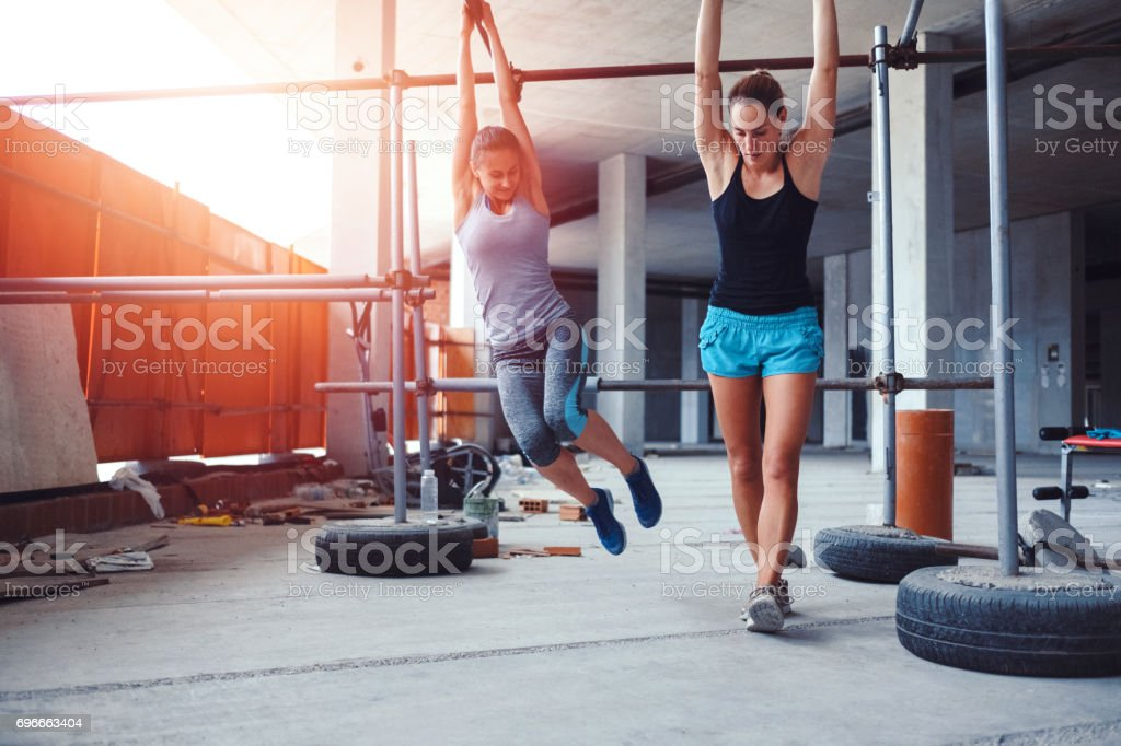 Ghetto gym and group of friends doing fitness stock photo more