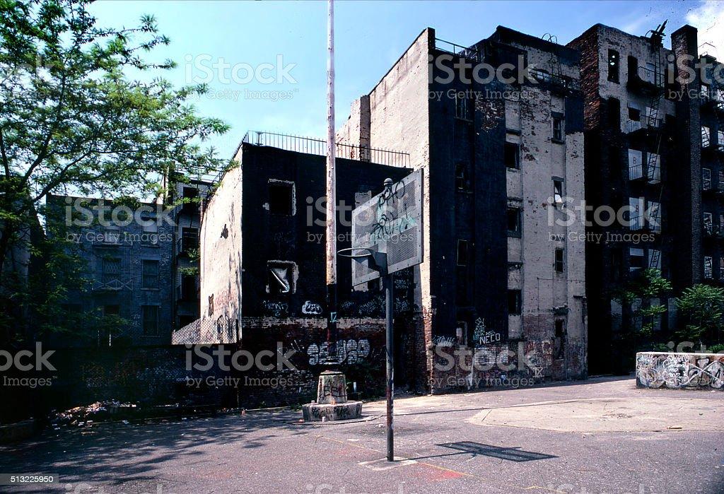 ghetto playground stock photo