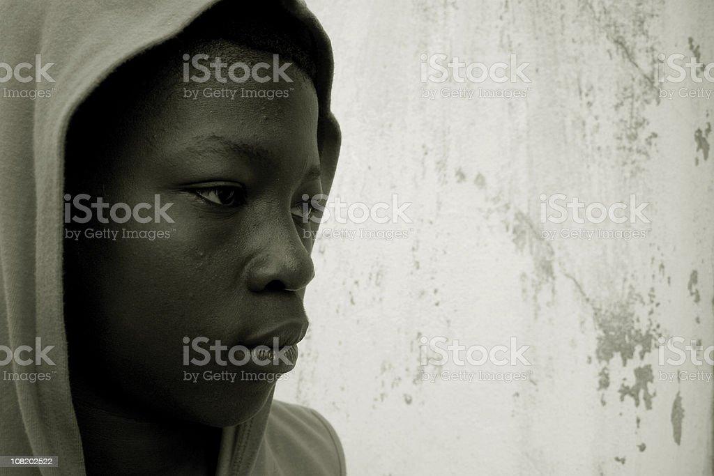 ghetto youth portrait stock photo