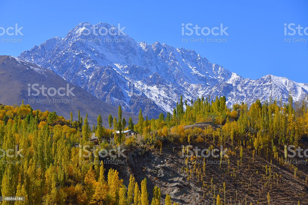 Ghizer Valley. Northern Pakistan. stock photo