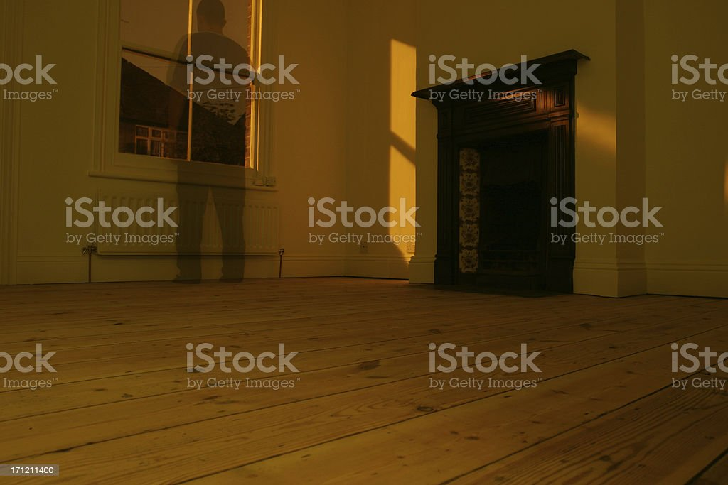 Ghost at the window royalty-free stock photo