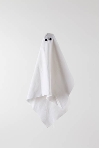 ghost back white stock photo