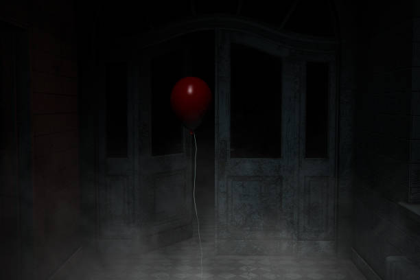 ghost-ballon - horror zirkus stock-fotos und bilder