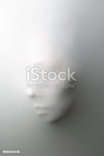 istock Ghost behind the white curtain 666946446