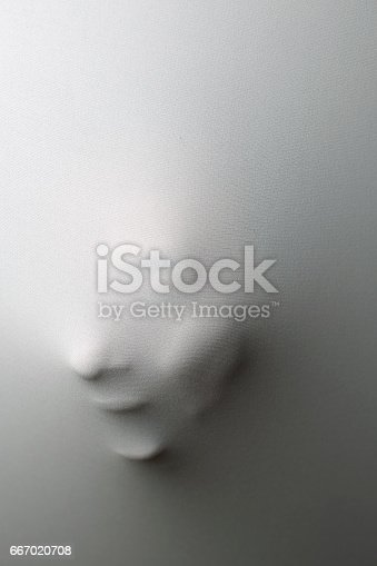 istock Ghost behind the white curtain 667020708