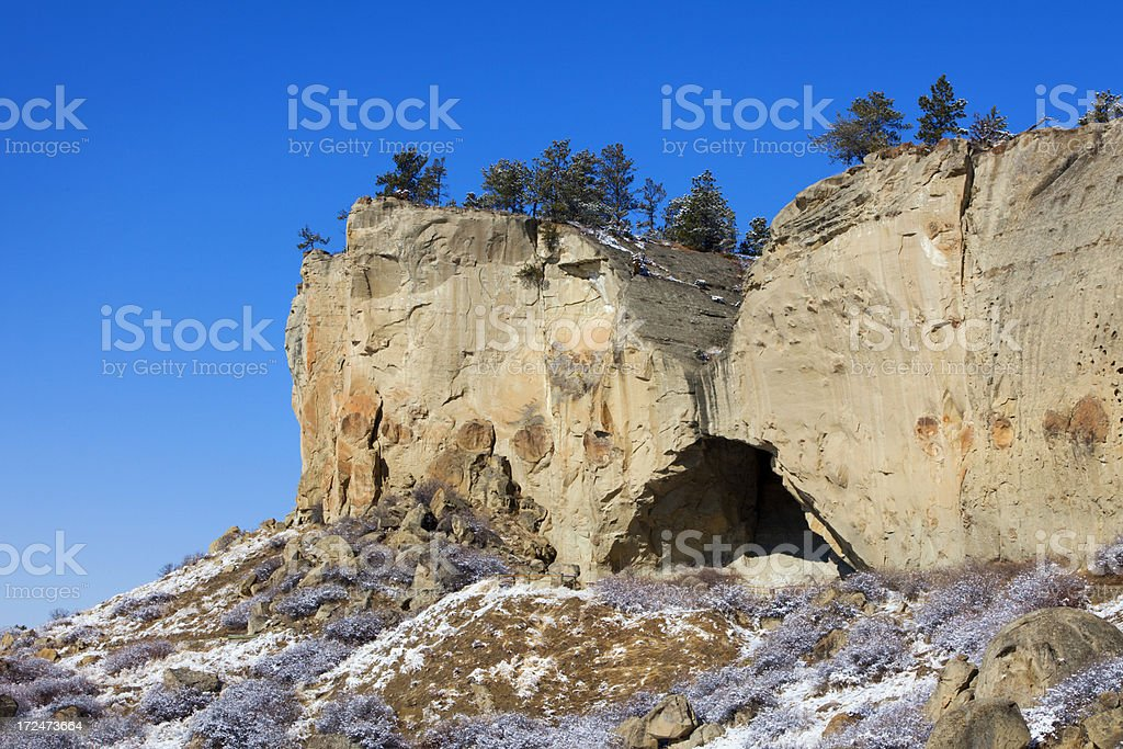 Ghost Cave - Pictograph.Cave State Park royalty-free stock photo