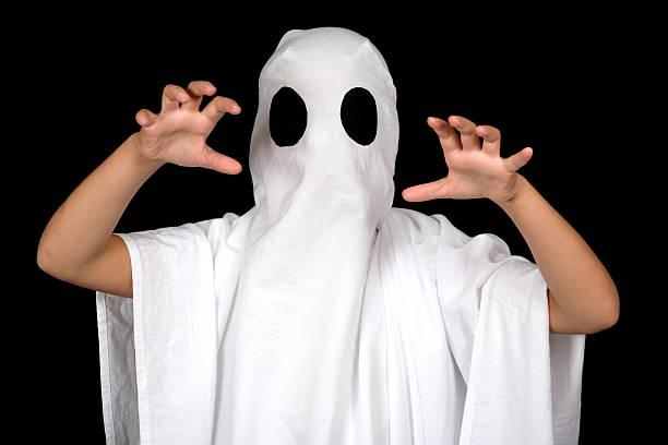 ghost child stock photo