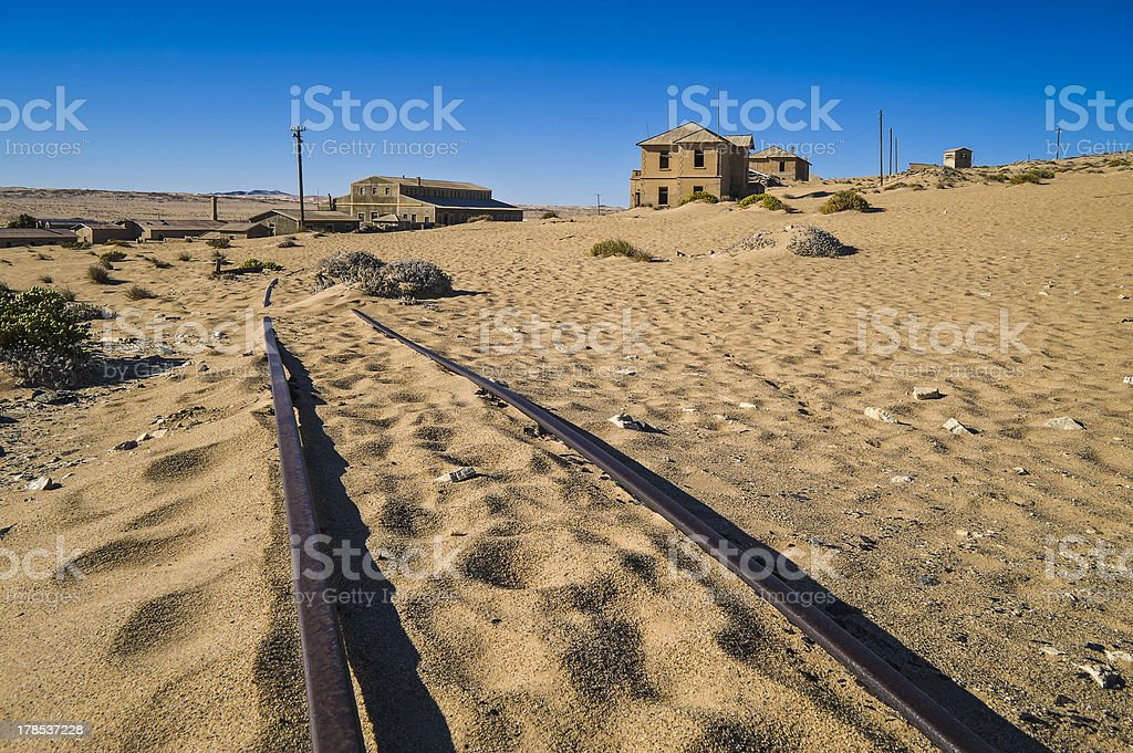 Ghost diamond mining town Kolmanskop royalty-free stock photo