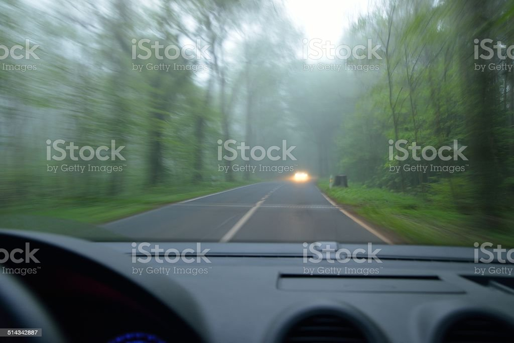 Ghost driver stock photo