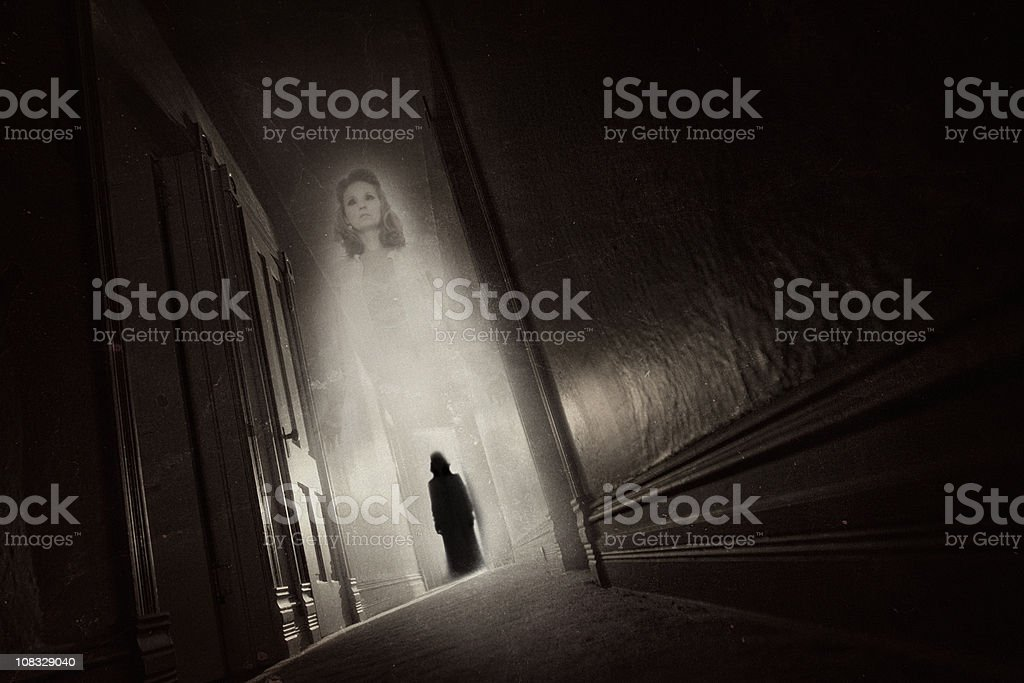 Ghost Haunting stock photo