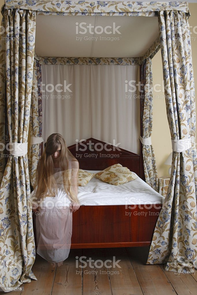 Ghost In Bedroom royalty-free stock photo