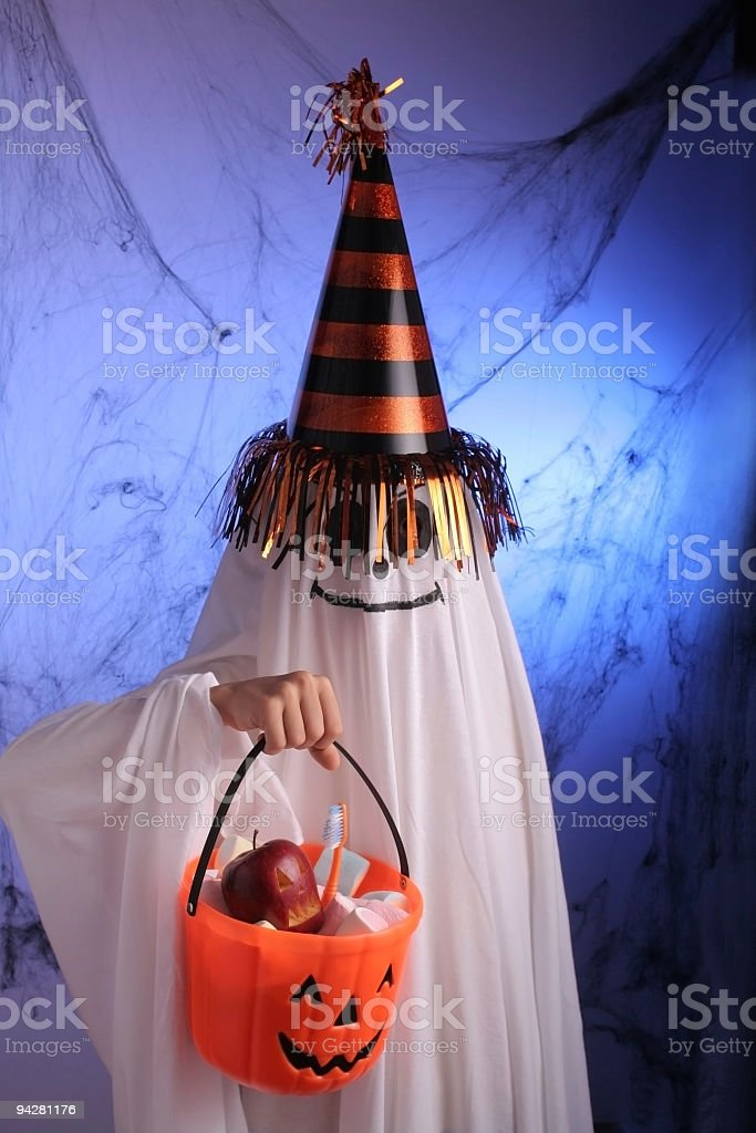 Ghost in Halloween Party royalty-free stock photo