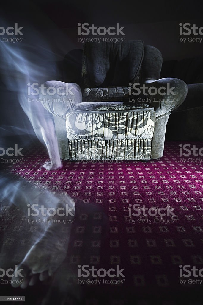 Ghost in room royalty-free stock photo
