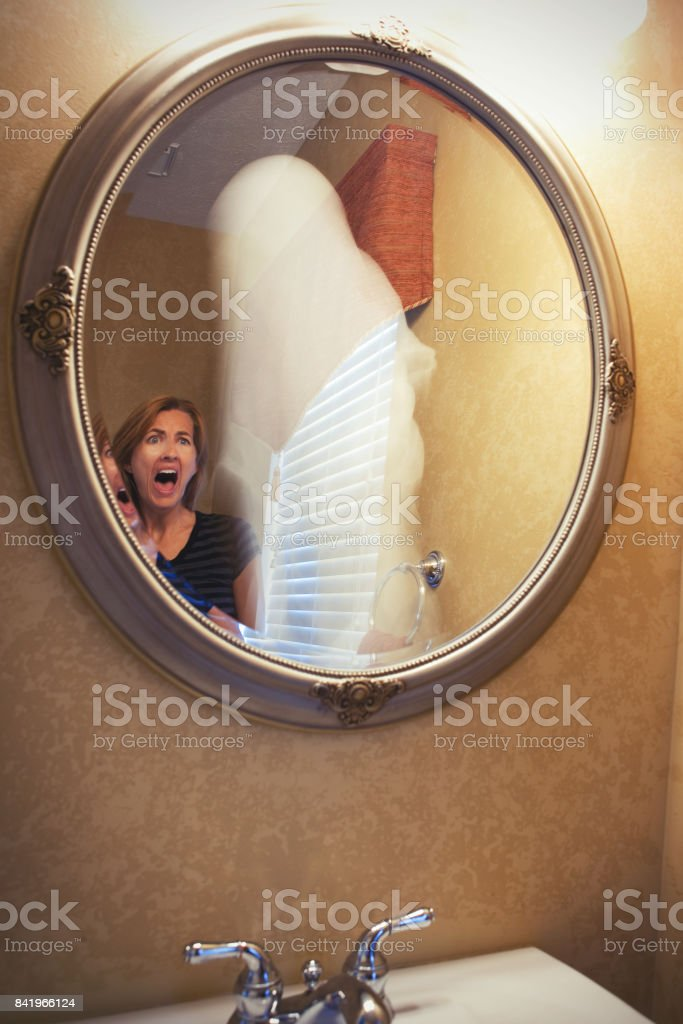 Ghost In The Mirror stock photo
